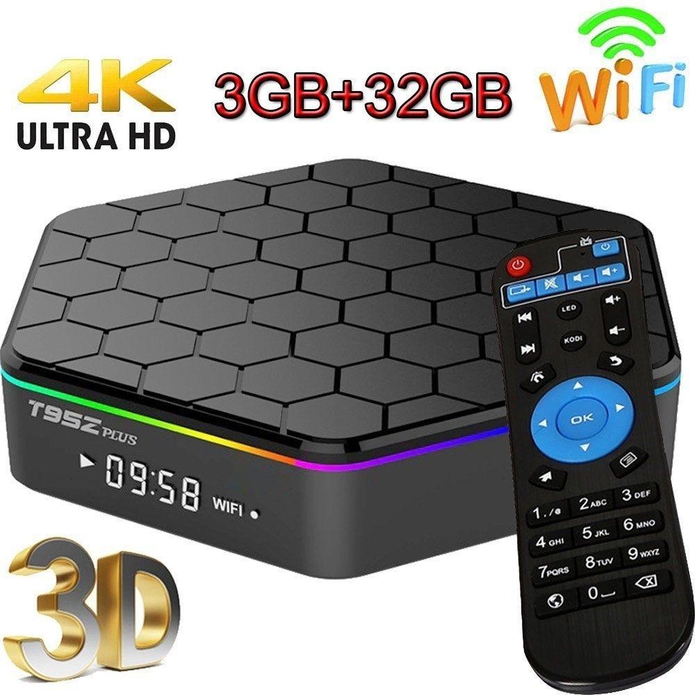 T95Z Plus 2GB 16GB/3GB 32GB Amlogic S912 Octa Core Android 7.1 OS Smart TV BOX HDMI 4K WIFI Bluetooth Set Top Box Media Player himedia a5 bluetooth 4 0 3d 4k smart android 6 0 tv box 2gb 16gb amlogic s912 network media player 1000m lan hdr10 set top box