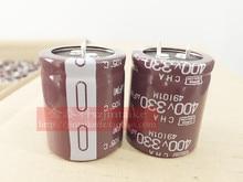 30 ШТ. Импортированы NIPPON электролитические конденсаторы 400V330UF 30X35 ЧА серии 105 градусов коричневый бесплатная доставка