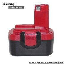 Батарея для Bosch 14,4 в 2000 мАч BAT038 механические инструменты батарея Ni-CD батареи для дрели 3454, 3454-01, 3454SB, 34614, 35614, 3660 K