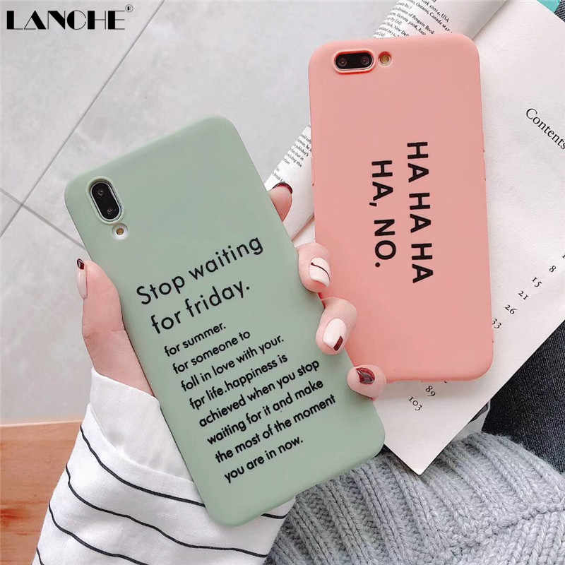 LANCHE Soft Phone Cover Case For Huawei P20 Mate 10 20 P30 Pro Case Letters Candy TPU Case On For Honor 9 10 V10 20 Nova 2s 3 4