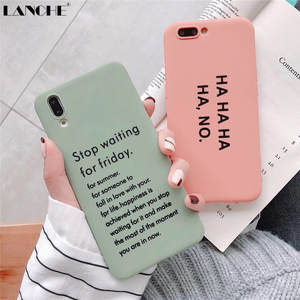 LANCHE Soft Phone Cover Case For Huawei P20 Mate 10 20 P30 Pro Case Letters Candy TPU