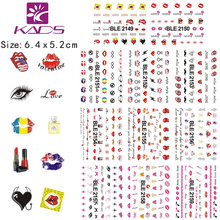 KADS 11sheet/SET BLE2149-2159 Sexy Lips design Water decal Nail Sticker For water transfer nail sticker for sticker decal(China)