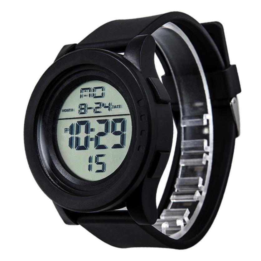 620f25e0c55 Erkek Kol Saati Homens Relogio masculino Reloj De Los Hombres moda LED  Digital Data Dia Silicone Relógio de Pulso da Tela de Toque may31