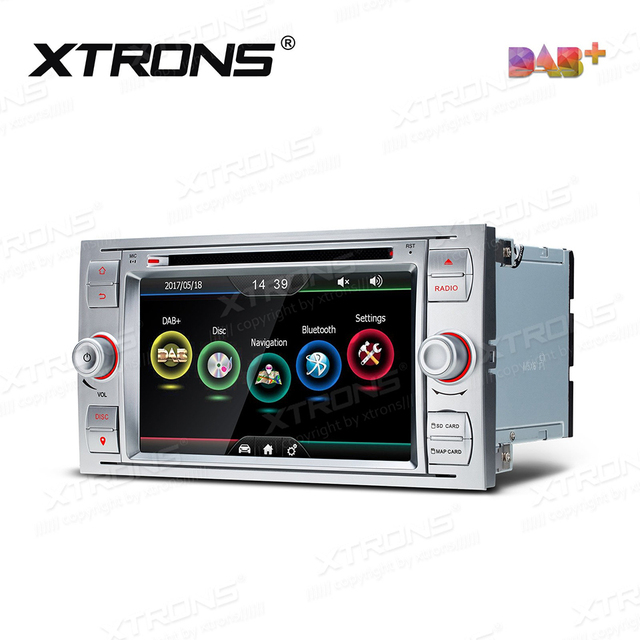 """7"""" DAB+ Radio Car DVD Player GPS For Ford Kuga Fusion Transit Fiesta Connect Focus C-Max S-Max Galaxy Auto 2 Din SD RDS Stereo"""