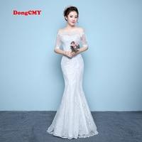 DongCMY Long White Color Mermaid Bandage Wedding Dress