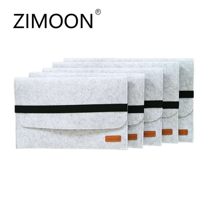 "Zimoon Felt Laptop Sleeve Bag Notebook Case Computer Smart Cover Handbag For 11"" 13"" 15"" Macbook Air Pro Retina"