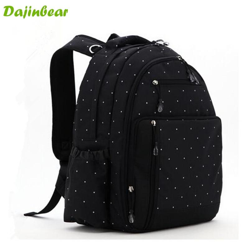 ФОТО large capacity baby diaper backpack multifunctional mummy bolsa maternidade travel bag cute dot large nappy bag backpack