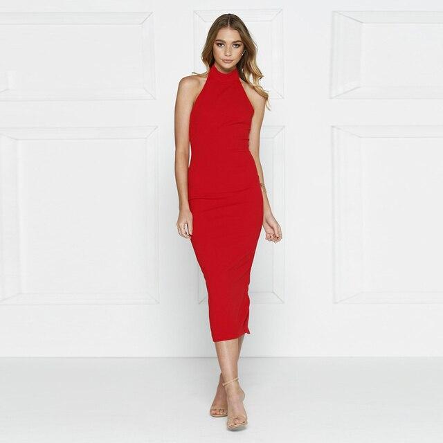 Kim Kardashian Bodycon Dress Sexy High Neck Sleeveless Off Shoulder 6