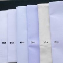 25x25 см Aida ткань 18ct 28ct 40ct вышивка крестиком Ткань Холст маленькая сетка белого цвета DIY ручная вышивка