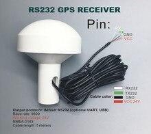 DIY Conectores Personalizados, Voltaje 12-24 V RS232 Protocolos Industriales Aplicaciones Receptor GPS módulo de Antena NMEA 4800 Baudios tasa