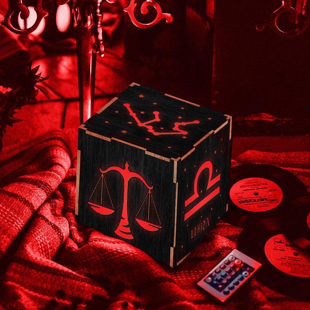 1Piece Zodiac Sign Novelty Night Lamp Libra LED Lantern Wood Light Box Decorative Mood Light Astrology Lamp Table Lamp free shipping 1piece new arrive marvel anti hero deadpool figure light handmade 3d bulbing illusion lamp led mood light for kid
