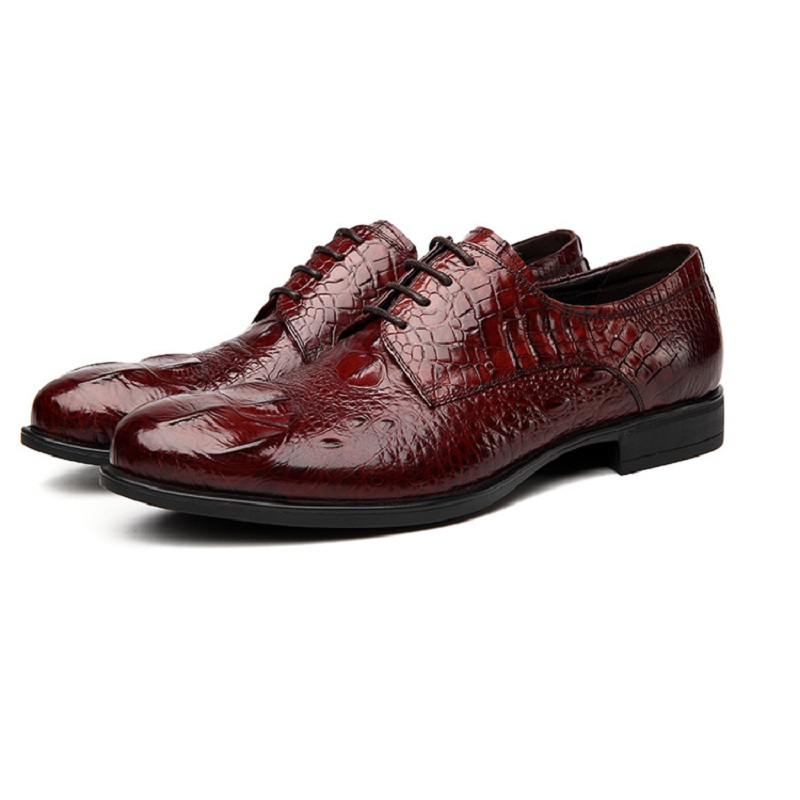 mens dress shoes leather shoes Men derby Crocodile pattern handmade British brogue beat seller New spring Autumn Oxford Shoes