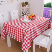 Table-Cloth Decorative Dinning Plaid Rectangular Home Modern for Red Round Picnic