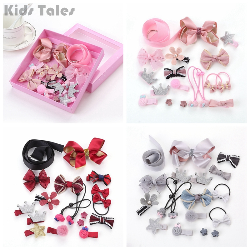 18Pcs/set Hairpin Baby Girl Nice Hair Clip Decorations Bow Flower Mini Barrettes Star Kids Infant Accessories DAJ9271 все цены