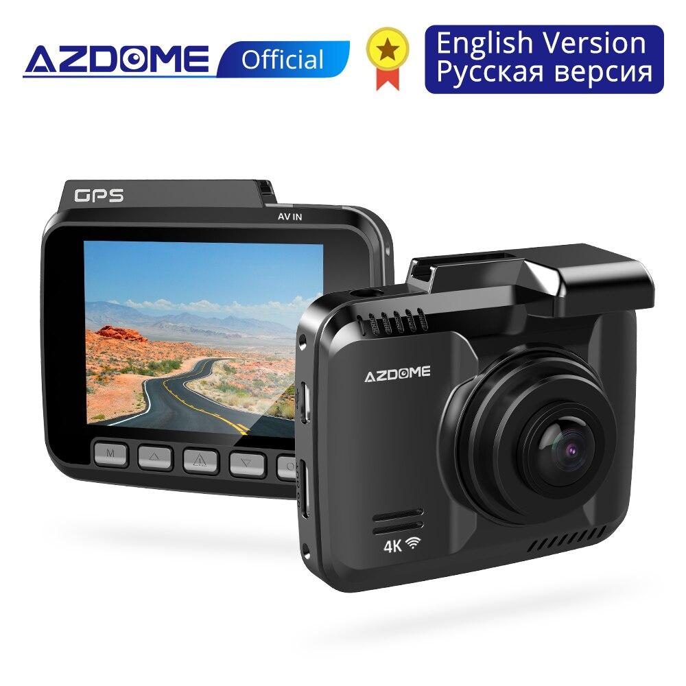 AZDOME GS63H voiture tableau de bord caméra 4K HD tableau de bord 170 degrés grand Angle de vue avec GPS WiFi g-sensor boucle enregistrement surveillance du stationnement