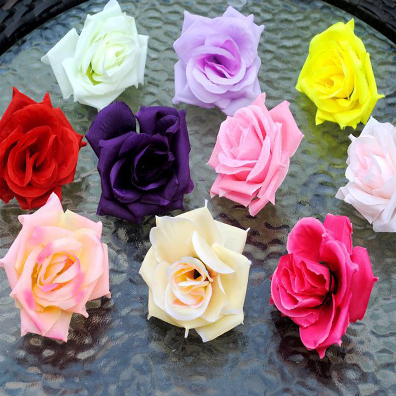 Fake flowers for crafts - 50pcs 8cm Diy Handmade Silk Rose Flowers Head Arti