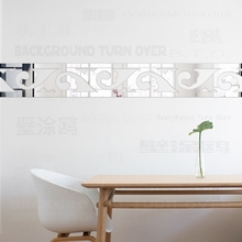 Mirror Wall Stickers Sticker Home Decor For Bedroom Kids Rooms Room Frieze Listello Border Royal Palace Vintage Retro R067 цена