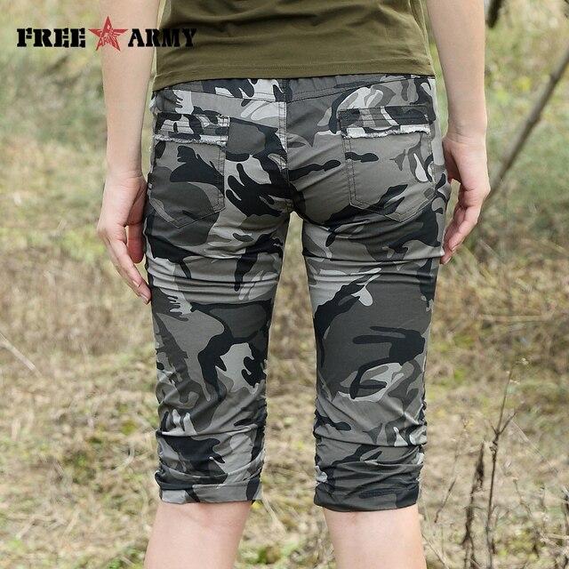 Women Combat Tactical Capris Camouflage Jogger Pants New 2017 Camo Print Sweatpants Joggers Casual Cargo Pants Plus Size 26-31 6