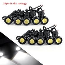 10 قطعة/الوحدة 23 مللي متر سيارة LED النسر العين ضوء سيارة النهار تشغيل أضواء 12 فولت السيارات احتياطية عكس وقوف السيارات إشارة مصابيح سيارة ضوء