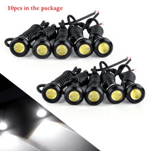 10 adet/grup 23MM araba LED kartal göz ışığı araba gündüz farları 12V otomatik yedekleme ters park sinyal lambalar araba ışık