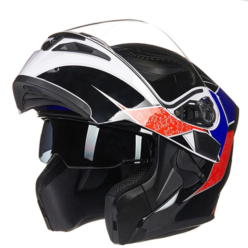 Аэродинамический дизайн двойной щит мотоциклетный шлем JIEKAI 902 Фип мотор мотоцикл шлем гоночный стиль головки шестерни для мужчины и женщины