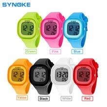 SYNOKE Fashion Sports Children Watch LED Digital Watches Waterproof Alarm Back Light Digital 3ATM Waterproof Wristwatch