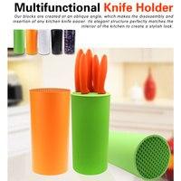 Knife Block Knife Stand Sooktops Tube Shelf Chromophous Scissors Holder Multifunctional Plastic Tool Holder