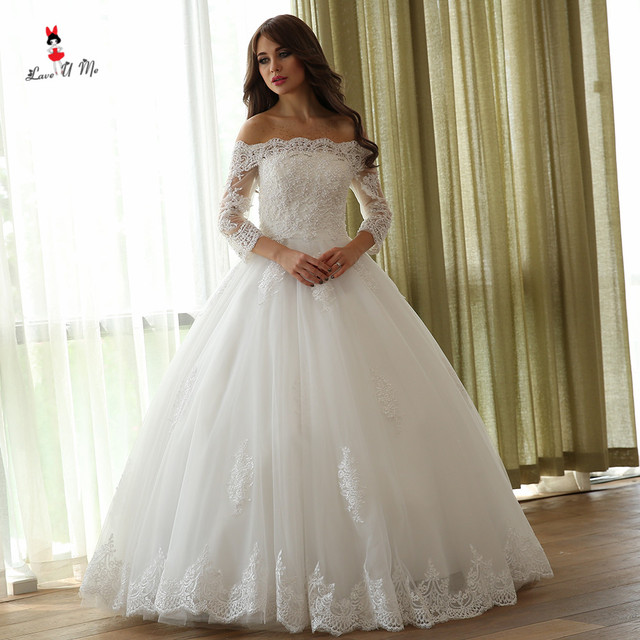 Aliexpress compre vintage boho wedding dress 2018 vestidos de vintage boho wedding dress 2018 vestidos de noiva matrimonio ball gown bride dresses lace wedding gowns junglespirit Gallery