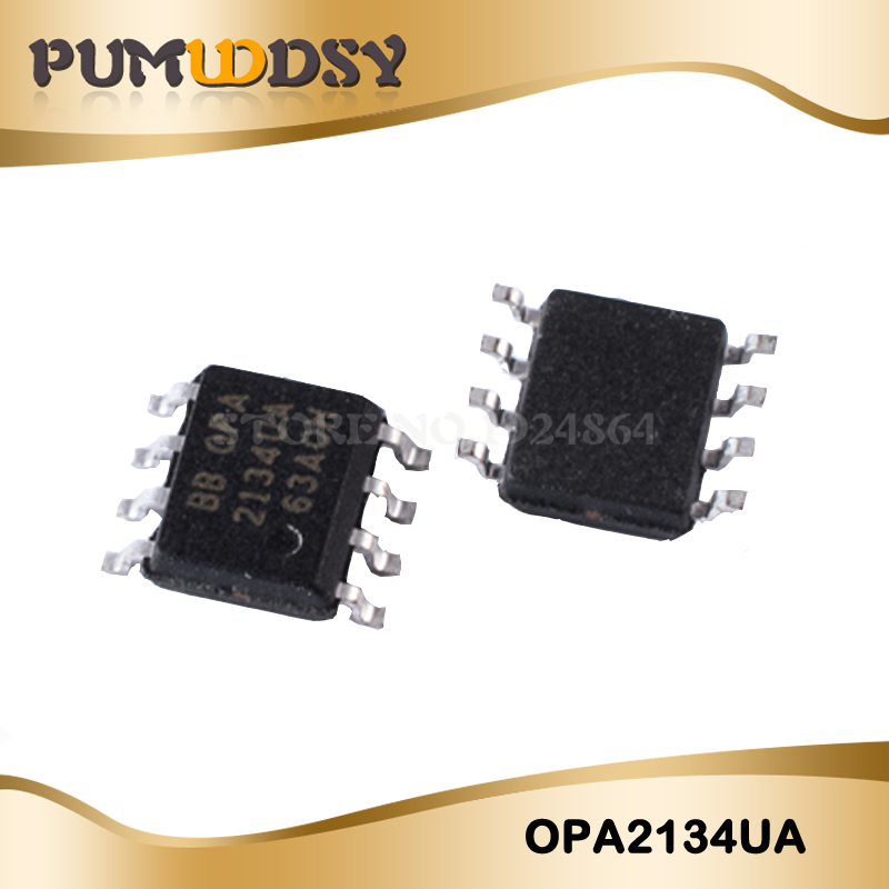 10pcs/lot Free shippin <font><b>OPA2134UA</b></font> OPA2134 SOP8 trademark high-performance audio op amps original IC image