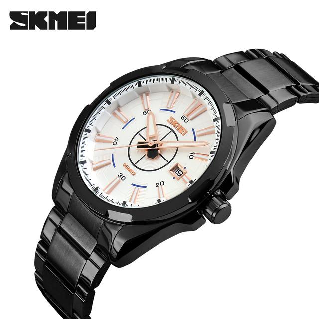 Relojes de Cuarzo Analógico Reloj de los hombres SKMEI Marca de relojes de Lujo Hombres Reloj Militar Relojes Reloj de Los Hombres Del Cuarzo Del Deporte Del Acero Inoxidable