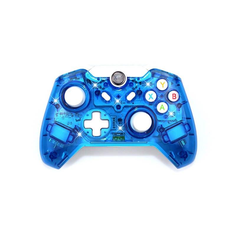 Sans fil Contrôleur Controle Pour Microsoft Xbox Un Contrôleur Joystick Pour Xbox Un PC Windows Gamepad Transparent avec LED