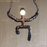 Водопровод Ретро Винтаж Промышленное освещение светильники в американский Лофт Стиль подвесной светильник led hanglamp подвесной светильник
