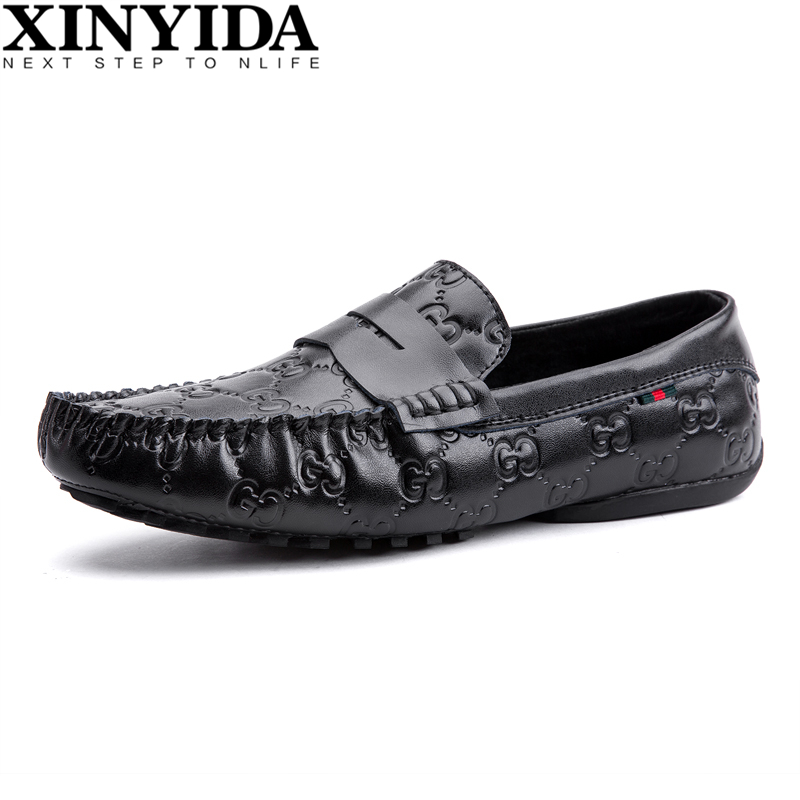 New Arrival Fashion Genuine Leather Driving Shoes Loafers Men Moccasin Gommino Casual Boat Shoes Slip On Men Shoes Size 39-44 2016 men s casual crocodile genuine leather boat shoes slip on velvet loafers moccasin fashion flat shoes men s loafer shoes new