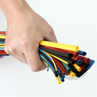 New Arrival 55M 6Color 11 Sizes Multi Color Polyolefin 2 1 Halogen Free Heat Shrink Tubing