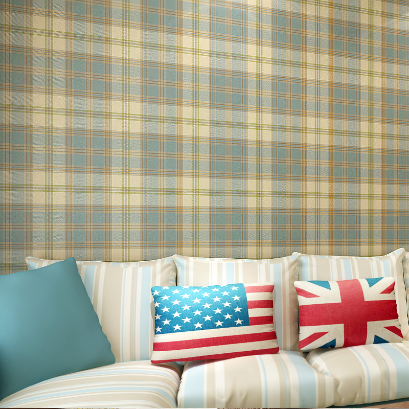 Modern Scottish Grid Wallpaper Pure Paper Wall Paper Roll Living Room Wall Paper for Walls,Vintage Wallpapers 3D Embossed,papel hot simple modern home embossed textured lines wallpaper roll striped wallpapers for living room bed room wall paper for walls