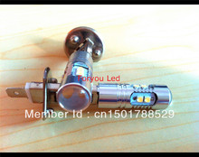 2pcs/lot super brightness White/amber/Red 50W cree XBD Chips,H1 HIGH POWER,H1 LED FOG LIGHT,H1 LED With Canbus
