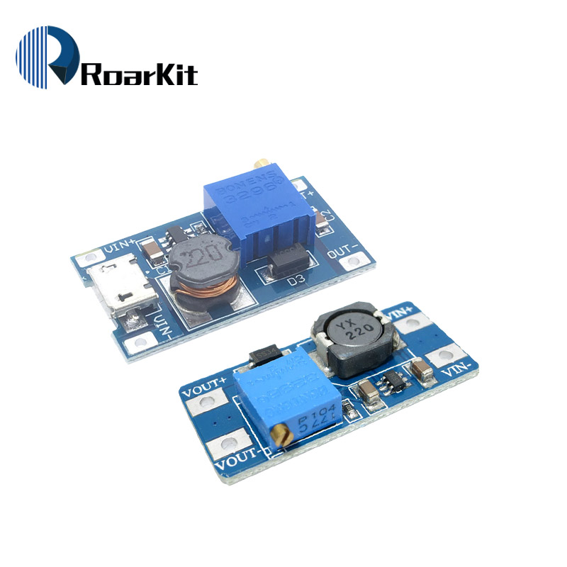 Модуль повышения давления MT3608, 2 А, макс. Модуль повышения мощности с микро-usb усилителем, модуль питания для Arduino
