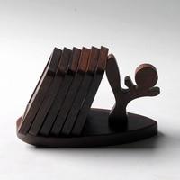 6pcs Creative Gongfu Tea Coffee Cup Mat Natural Bamboo Heat Resistant Mug Coaster Placemat Holder Pad Tray,teaware