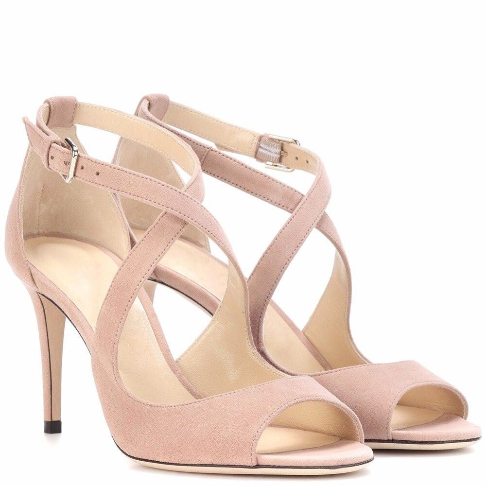 Chaussures 34 Suede Black Toe Sandales pink pink Satin À Suede Taille Femmes Noce Hauts Arc Nu Femme Talons Noir Mode 46 De Pour Peep Faux pwdR8qz