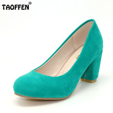 TAOFFEN free shipping high heel shoes women sexy dress footwear fashion lady female pumps P12401 hot sale EUR size 31-43