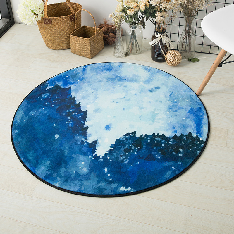 Northern Europe Carpet Round Kids Gym Rug Play Game Mat Baby Toys Pouch Storage Baby Crawling Outdoor Pad Room Dec