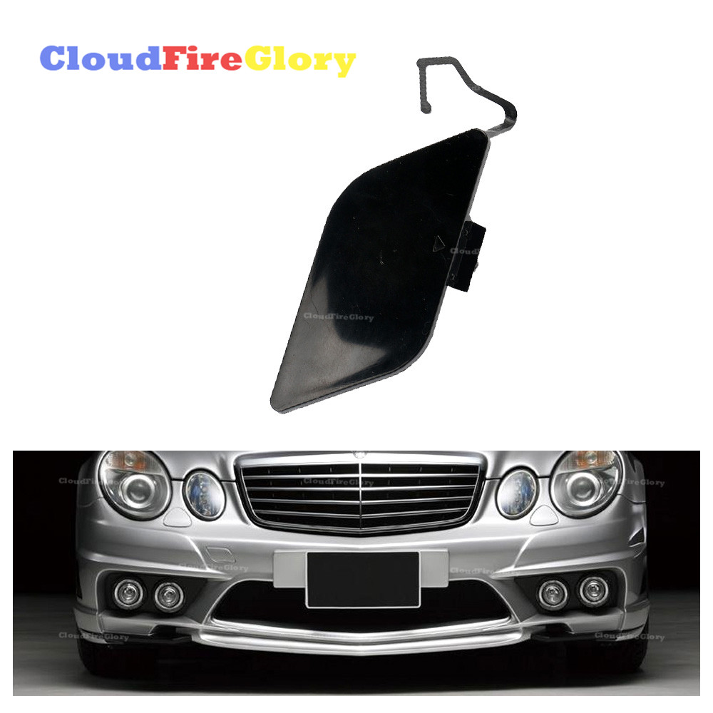 CloudFireGlory For <font><b>Mercedes</b></font> <font><b>Benz</b></font> E Class W211 E200 E280 E350 E500 Front Bumper Tow Hook Cover Cap Unpainted Primed 2118851022 image