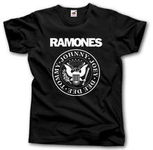 cd275eb3e RAMONES S-XXXL PUNK ROCK BAND música RAMONE 3XL precio bajo hombres  Camisetas cuello redondo