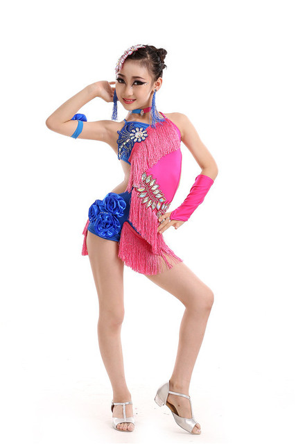 ff2c0dcfe117 Green Blue Black Red White Child Fancy Clothes Kids Stage Show Wear ...