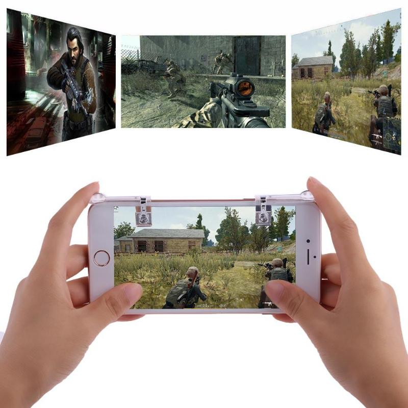 1 Pair Phone Joysticks Single Touch Joysticks Game Handle Controller Shooting Assist Tools for STG FPS TPS Game Button