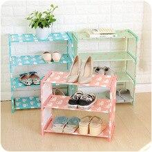 Simple Multi-layer Stainless Steel Storage Bag Shoe Rack Organizer Stand for Footwear Shoemaker Box Dorm Room Livingroom