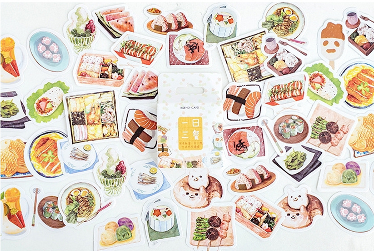 Three Meal Diy Decorative Stickers(1pack=46pieces)