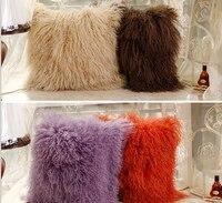 Wholesale mongolian lamb fur pillow