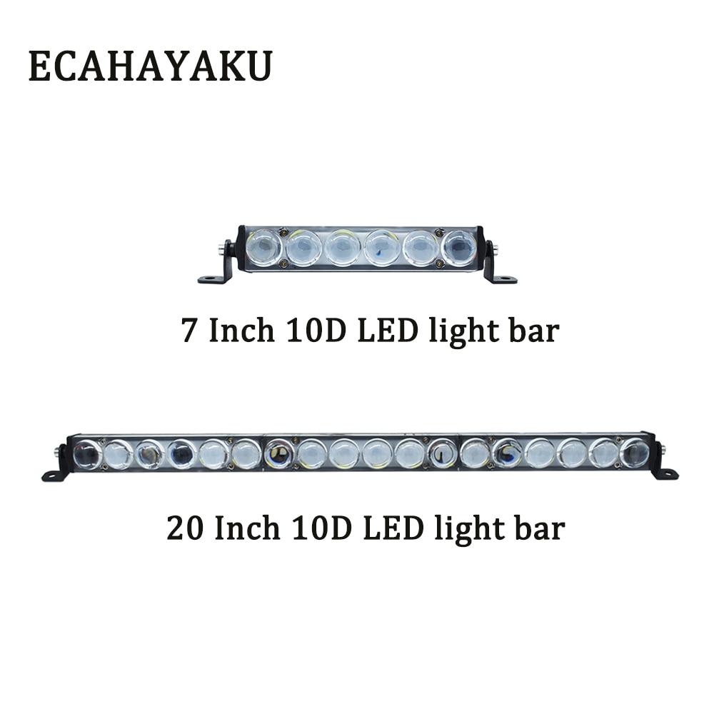ECAHAYAKU 7 inch 30W 20 90W Slim 10D LED work Light Bar Fog Driving Lamp offroad bar for atv jeep UTV Truck car 4x4 4wd
