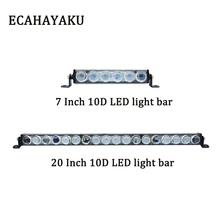 ECAHAYAKU 7 inch 30W 20 90W Slim 10D LED work Light Bar Fog Driving Lamp offroad bar for atv jeep UTV Truck car 4x4 4wd